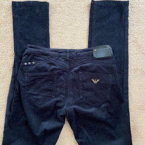 Armani Jeans corduroy straight pants navy Sz 26